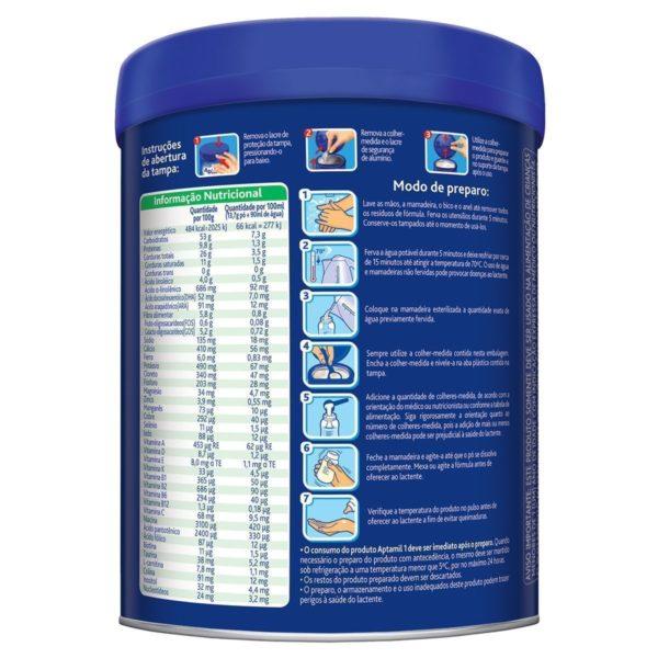Informação Nutricional Rotulo Verso Aptamil 1 Premium em Juiz de Fora